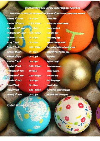 Easter Holiday Activities 2016